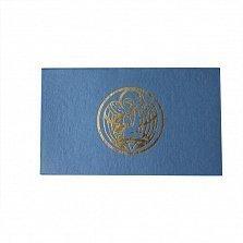 Серебряный набор Моєму Похреснику из ложки, крестика, ладанки и шнурка с разноцветной эмалью